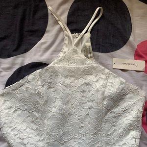 Francesca's white lace halter dress